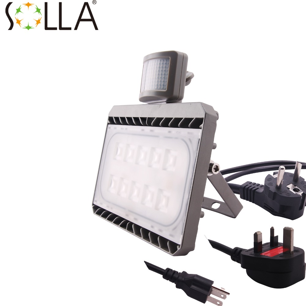 Cree New PIR LED Flood Light 30W 50W Motion Sensor Outdoor Lighting Waterproof IP65 AC100 240V