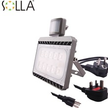 Cree New PIR LED Flood Light 30W 50W Motion Sensor Outdoor Lighting Waterproof IP65 AC100-240V Sense Lamp Garden Light