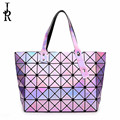2016 autumn cube Lingge geometric stitching handbag ladies bag with the star