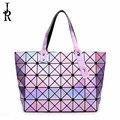 2016 otoño cubo de costura geométricos Lingge bolso bolso de las señoras con la estrella