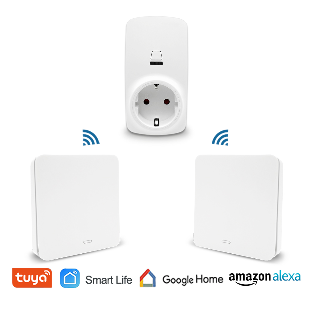 Tuya Smart Life Voice Control EU Type Wireless Socket Remote Control Outlet Plug 10A, Self Powered Kinetic Wireless SwitchTuya Smart Life Voice Control EU Type Wireless Socket Remote Control Outlet Plug 10A, Self Powered Kinetic Wireless Switch