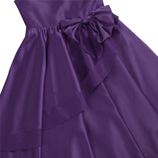Lovely Satin Bownot Bridesmaid Dresses