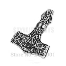 Norse Viking Axe Biker Men Pendant Thor Hammer Pendant Stainless Steel Jewelry Celtic Knot Motor Biker Pendant Wholesale SWP0408