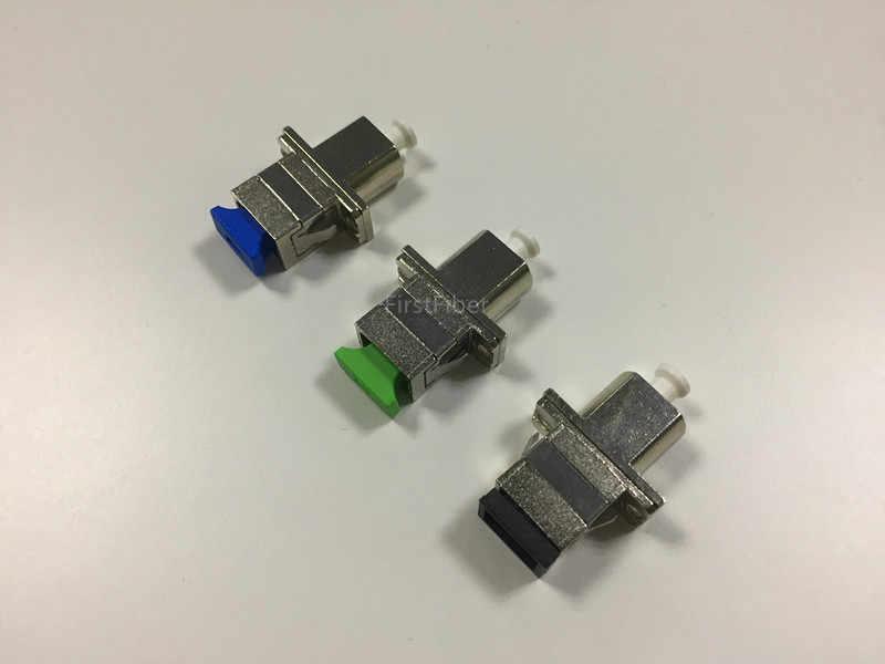 SC Femmina A Femmina LC Hybrid SIM Card e Adattatori in fibra di metallo connettore In Fibra ottica cavo patch di forma rettangolare, zirconia tubo interno