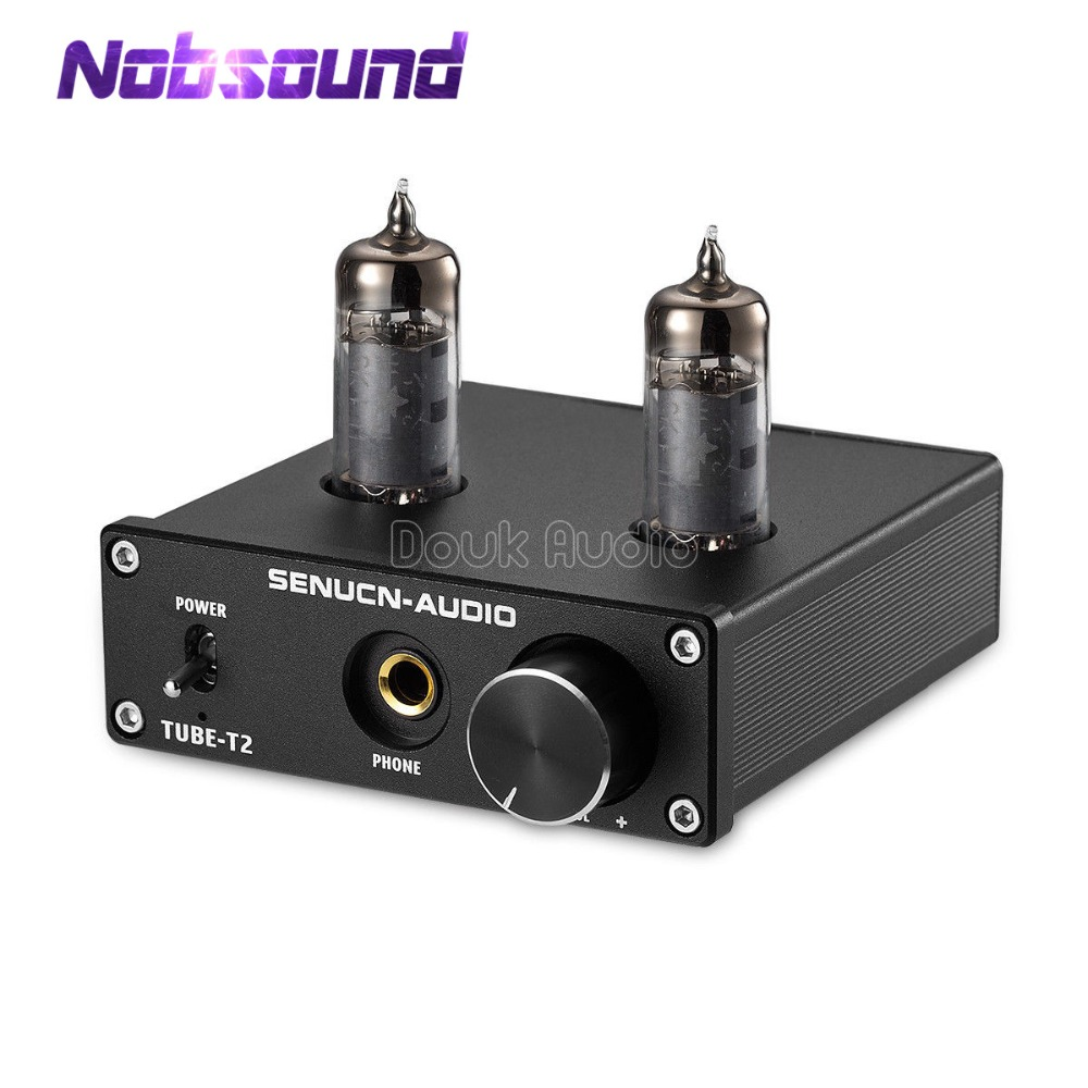 Nobsound Mini Valve Tube Headphone Amplifier Low Ground Noise HIFI Integrated Stereo Amplifier Audio Pre-Amp music hall bluetooth 4 0 valve vacuum tube amplifier stereo power integrated audio hifi amp support usb