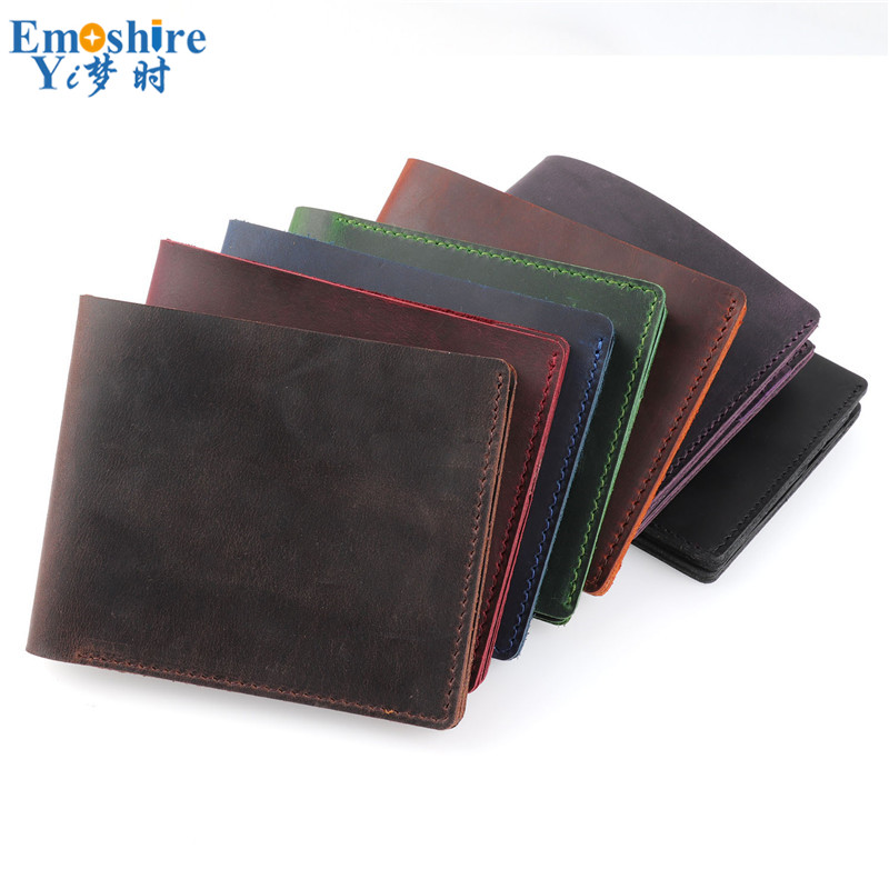 Leather Men's Wallet Leather Wallet Style Multi-card Retro Card Package Simple Suede Cowhide Pencil Case For Business Card B315 protective wallet style pu leather case w card slot for iphone 5s deep pink