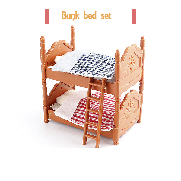 Good Double Beds Suit For Sylvanian Family Figures Toy 1:12 Doll House Mini Bedroom  Set Mini Living Room Furniture Toy Gift