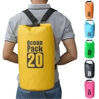 5L водонепроницаемый мешок для хранения сухой мешок для сплав на каноэ каяках Открытый путешествия на плотах Водонепроницаемый сухой мешок ...