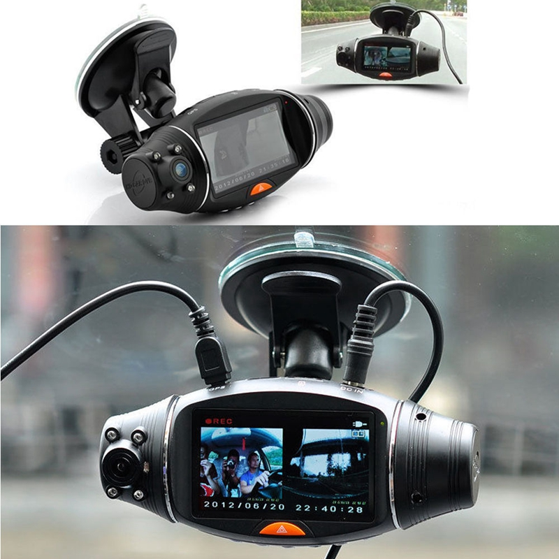 1pc New 2.7 R310 TFT Dual Lens HD Car DVR Camera Cam Auto Video Recorder GPS G-sensor 2 7 inch r310 tft lcd dual 2 lens car dvr video recorder