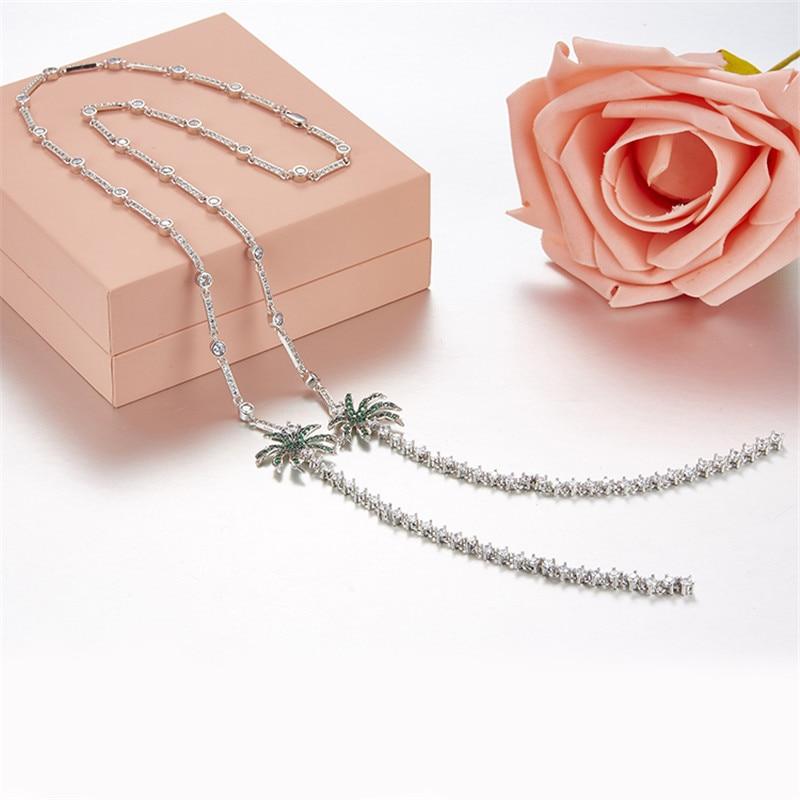 Здесь можно купить  Fits Apm Necklace Monaco Jewelry with Women Jewelry Party Gift 925 Sterling Silver Micro Inlaid Zircon Coconut Necklace Fashion  Ювелирные изделия и часы