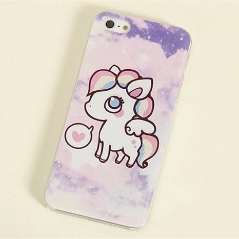 2 everta plastic gradient purple for iphone 4s unicorn horse 5s phone case  mobile phone case shell 644bb53eae3f