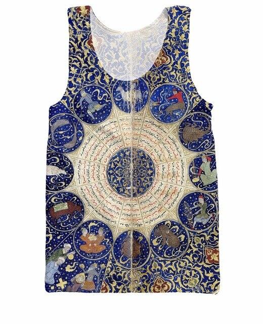 Гороскопы Майка Солнца и Луны планеты астрологические аспекты и чувствительной ангелы печати жилет майка футболка для женщины мужчины