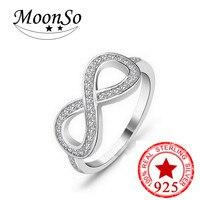 2018 NEW arrival 925 Sterling Silver infinity promise Nhẫn cho các cô gái phụ nữ lover Engagement wedding finger đồ trang sức LR782S