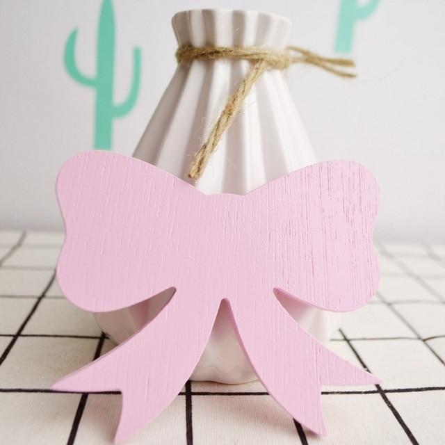 Mooie Houten Wanddecoratie.Us 14 88 Mooie Roze Boog Houten Haak Voor Kinderkamer Wanddecoratie Milieuvriendelijke Houten Hanger Haak Muur Voor Meisje Kamer Decor In Mooie Roze