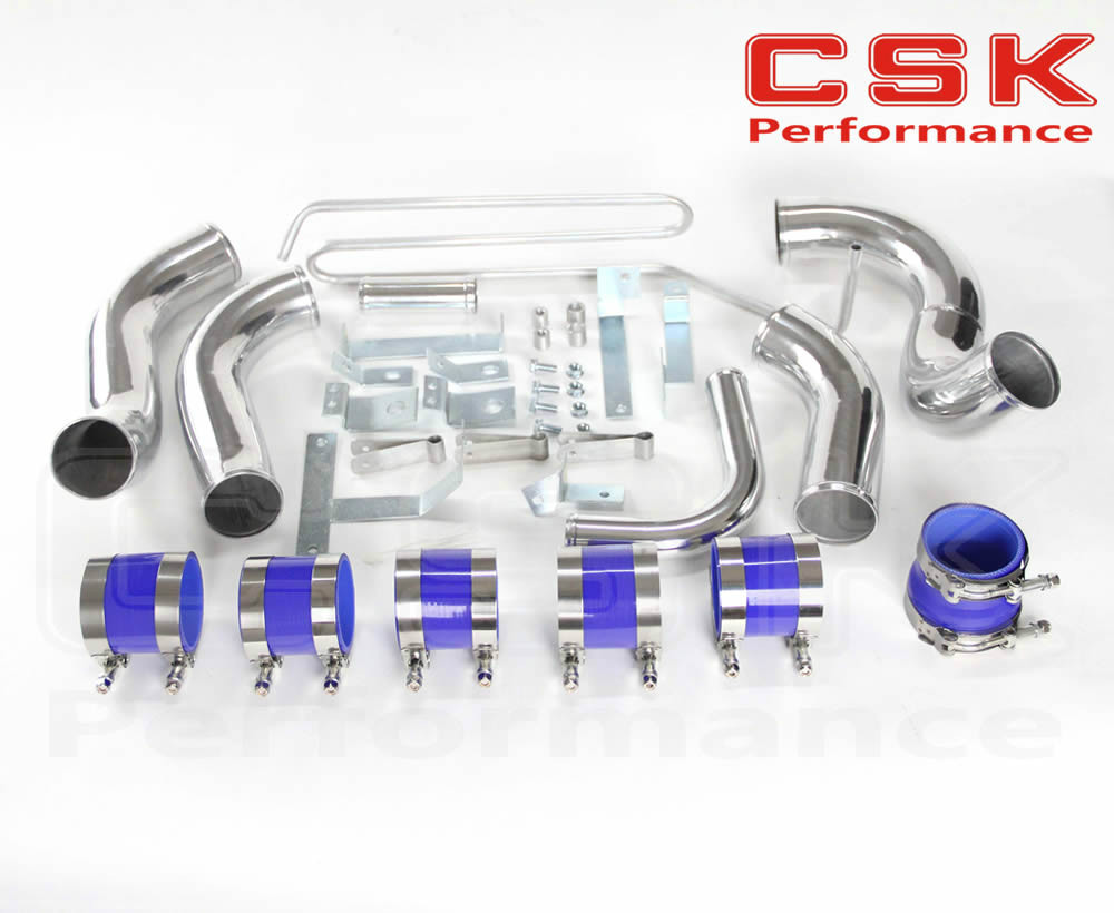 FIT:93 94 95 96 97 MAZDA RX7 FD3S FMIC FRONT MOUNT INTERCOOLER PIPING KIT BLUE