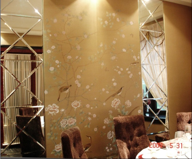 Европейский стиль ручная роспись шелковые обои живопись цветы с птицами ручная роспись настенная бумага обои много фотографий дополнительно