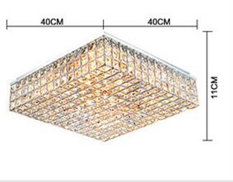 Image 4 - Living room lamps crystal lighting master bedroom room square headlights minimalist atmosphere Ceiling Lights Rmy 0491-in Ceiling Lights from Lights & Lighting