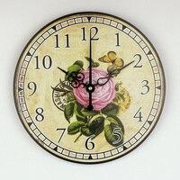 الجملة جميلة 3d الزهور ديكور المنزل غرفة المعيشة الديكور ساعة الحائط الحديثة أكثر البكم كبيرة الحجم ساعة الحائط أفضل هدية