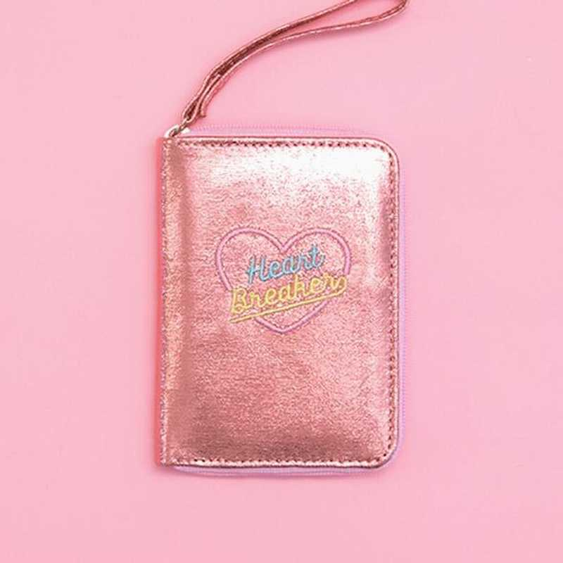 ピンクホログラム財布女性ガールの財布財布小日クラッチショートホログラフィック ID 銀行カードホルダーコイン財布マネーバッグ