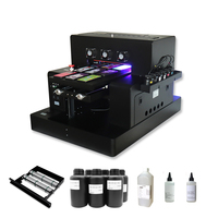 Upgraded Automatic A3 Size UV Printer Inkjet Printing Machine With Bottle Holder With UV Ink Set for Bottle, Phone Case, Metal