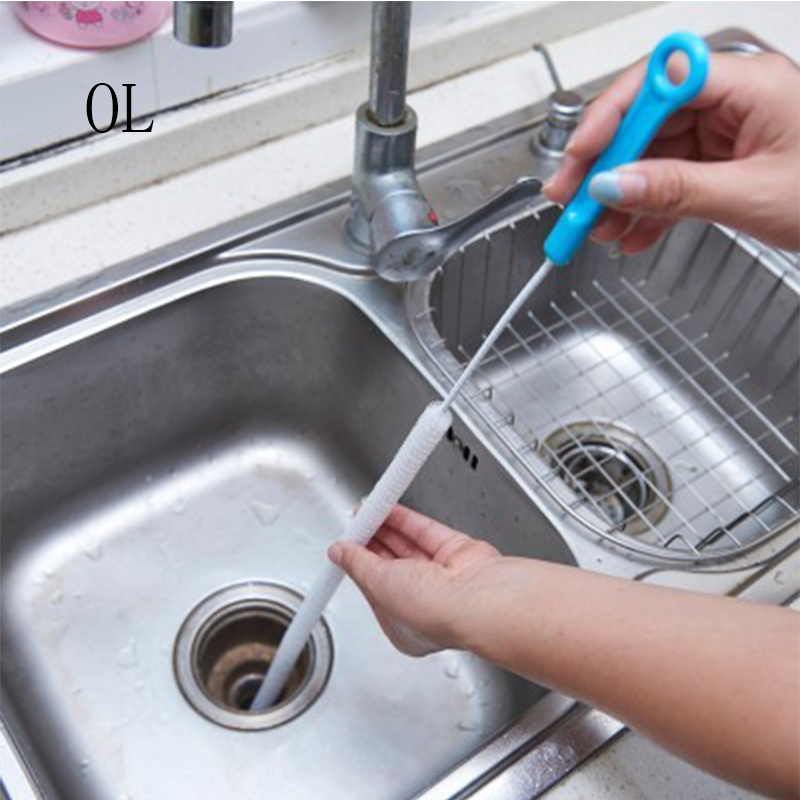 Bathroom Sink Bathtub Toilet Unblock Pipe Cleaning Tool Brush Cleaner Flexible Trowel Kitchen Sewer Cleaning Brush Organizer