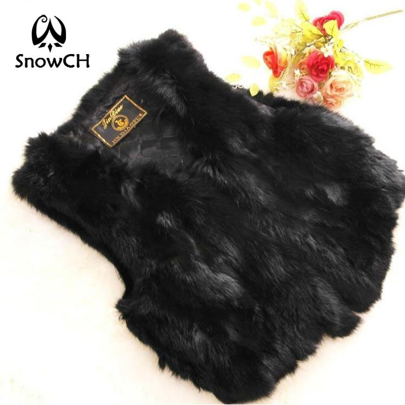 2017 New Genuine Rabbit Fur Vest Women's Short Rabbit Fur Coat Winter Fur Vest Free Shipping Custom Plus Size F632A