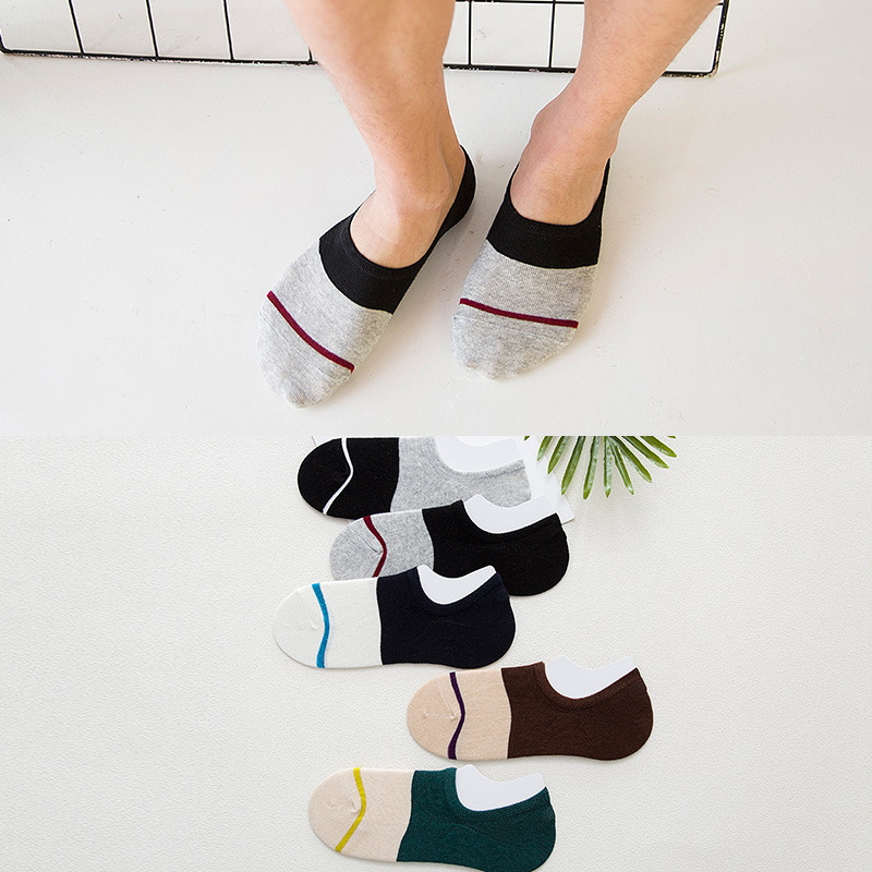 Summer Male Invisible Socks Man Cotton Frontline Leisure Time Sock Low Cut Ankle Sock boy boat casual slippers 1pair=2pcs WS115