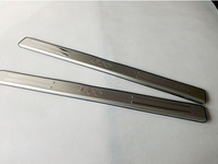 For Car Styling Fiat 500 2012 Automobile Stainless Steel Door Sill Plate Door Sill Scuff Plate