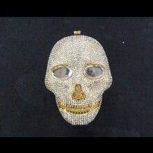 SCHÄDEL Kristall 3D Gold dame mode hohlen Metall Evening clutch tasche box handtasche
