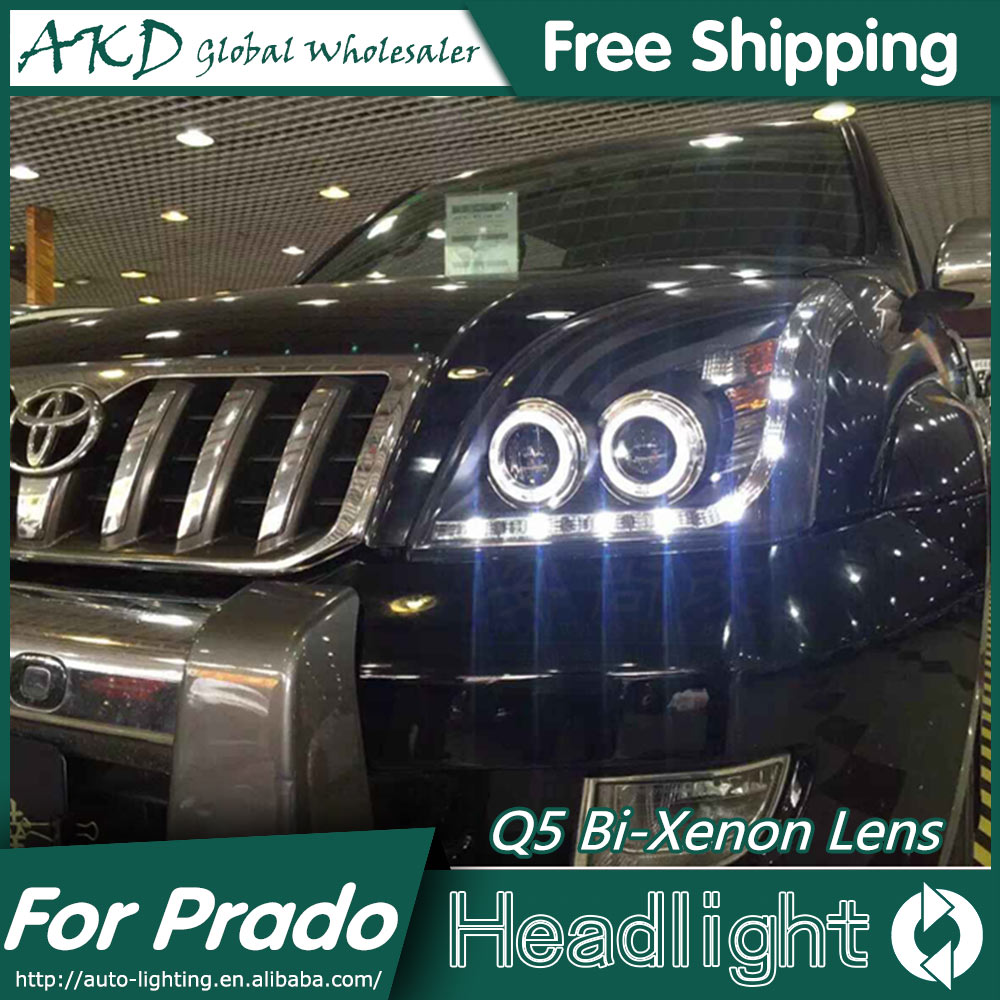 AKD Car Styling for Toyota Prado LC200 Headlights 2004-2009 LED Headlight DRL Bi Xenon Lens High Low Beam Parking Fog Lamp hireno car styling for toyo ta corolla 2011 13 headlights led super bright headlight drl xenon lens high fog lam