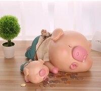 Beauty flying Pigs Resin Craft Ornaments Money Box Piggy Bank Cash Box Coin Bank Moneybox Coin Box Large Piggy Bank