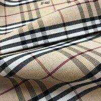 Клетчатая ткань шотландский хлопок льняной чемодан ветровка одежда завернутый край ткани ручной работы лист ткани