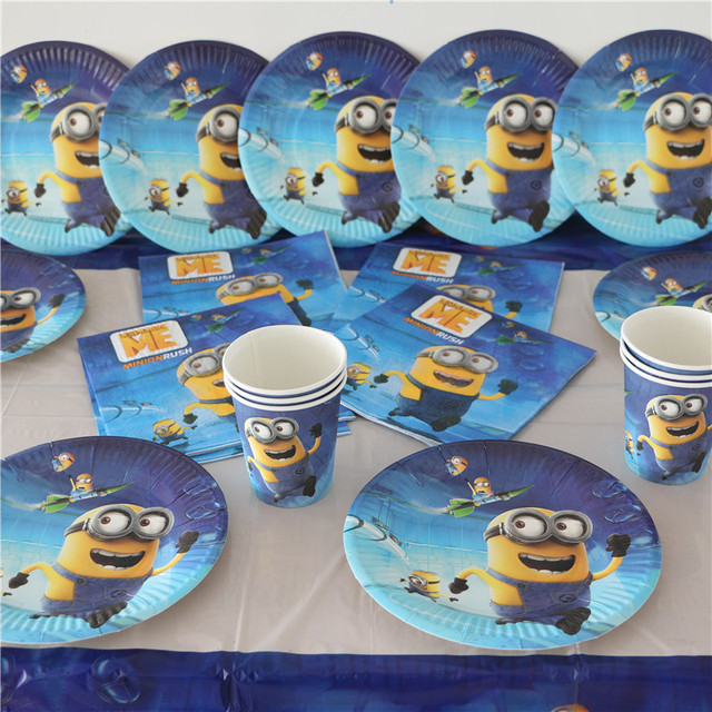 33pcs Kids Birthday Party Decoration Minions Paper Napkinspaper