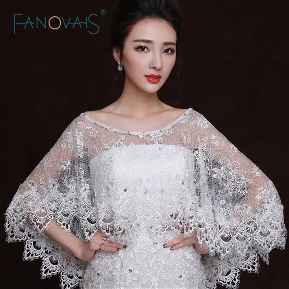 shoulder 35cm to 45cm ivory one size lace bolero women jacket wedding wrap bridal shrug shawl