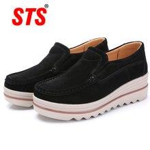 Sts/брендовая весенняя женская обувь на плоской подошве; Лоферы;