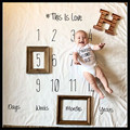 100*100CM Baby photography props baby blanket Letters numbers baby swaddle blanket newborn prop for photography