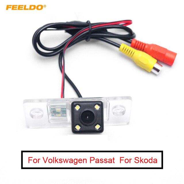 Feeldo câmera de backup para carro, câmera de visão traseira para volkswagen passat b5/tiguan (07 ~ 10)/polo (03 ~ 10) sedan/sandana (04 ~ 08)/golf 5/fabia