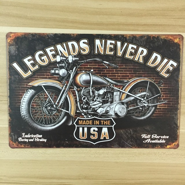 made in usa for motorcycle vintage home decor UA 0051 metal Tin ...