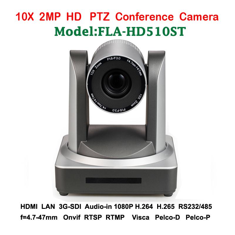 2MP 10x Optical Zoom PTZ IP PTZ Conference Camera 3G-SDI HDMI For broadcast video audio system professionals 2mp auto tracking ptz video audio education camera double lens with 2ch hd sdi lan rs232 for panoramic video teacher lecturer