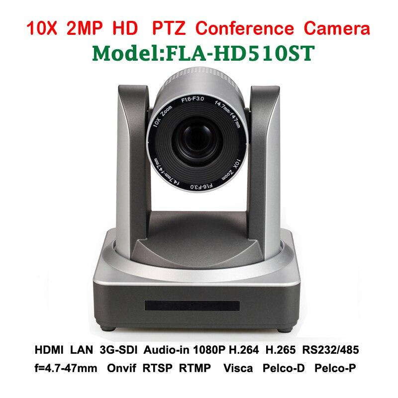 2MP 10x Zoom optique PTZ IP PTZ caméra de conférence 3G-SDI HDMI pour les professionnels du système audio vidéo de diffusion