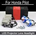 No error hi baja llevó la lente del proyector del faro asamblea para honda piloto con halógeno faros only retrofit actualizar (2004-2015)