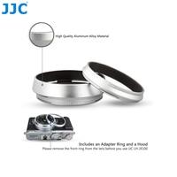 JJCLH JX100 Black Silver LENS HOOD ADAPTER RING Aluminum Metal Camera Lens Hood For FUJIFILM X70