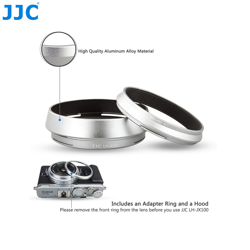 JJC Cámara lente de Metal tornillo anillo adaptador 49mm para FUJIFILM X7/X100/X100S/X100T/ x100F reemplaza LH-X100