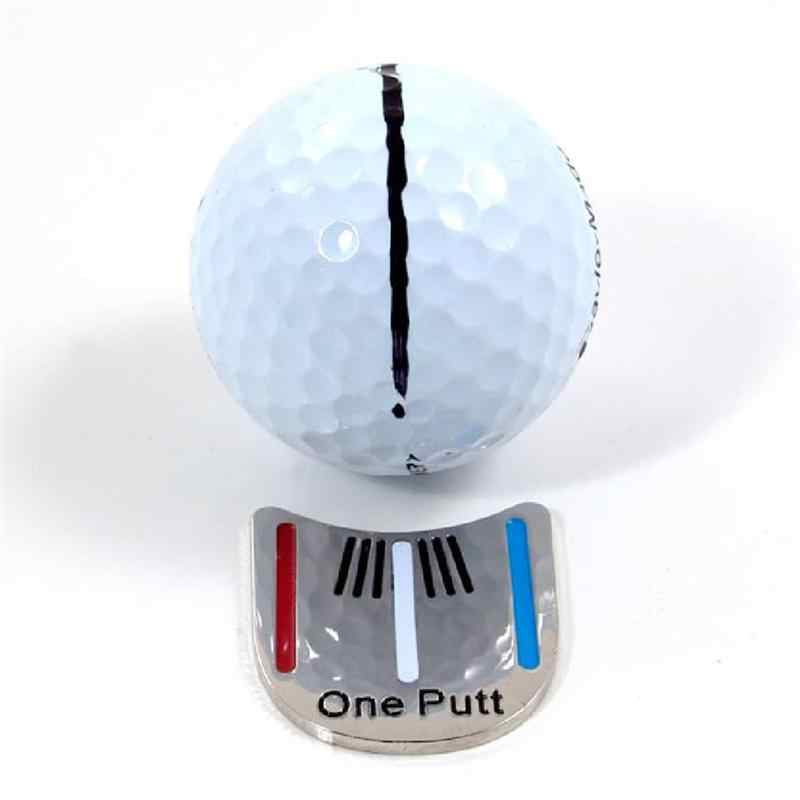 Golf Alloy Alignment Aiming Tool Ball Marker Magnetic Hat Clip
