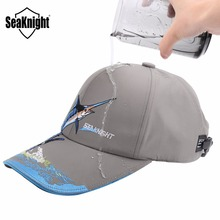 SeaKnight SK001 Outdoor Sports Fishing Caps Men Women Waterproof Sunshade Breathable Embroidery Outdoor Fishing Equipment