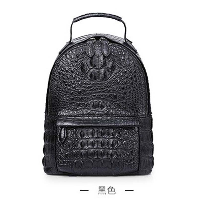 gete 2019 new Imported genuine crocodile leather backpack for ladies genuine leather leisure fashionable ladies leisure backpack