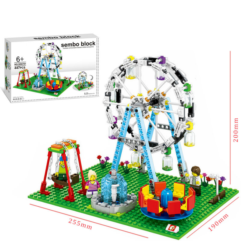 compatible legoinglys street view moc building city block Theme Park Amusement Park Ferris bela bricks toys for kid gift набор для вышивания с бисером riolis богоматерь казанская