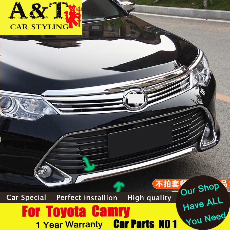 A T For Toyota Camry 2015 Bumper chrome trim car styling Car Special high quality ABS