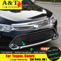A&T For Toyota Camry 2015 Bumper chrome trim car styling Car Special high-quality ABS For Camry Front bumper stickers trim