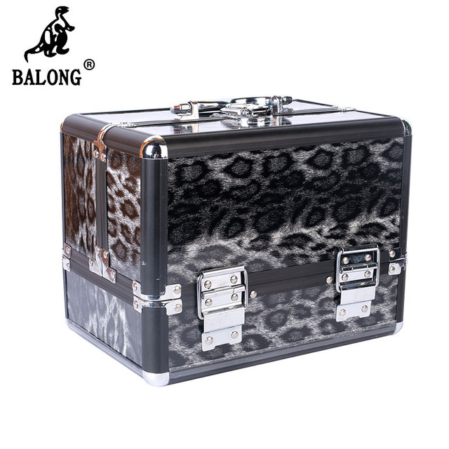 Leopard Pattern Jewelry Storage Suitcase Jewellery Display Box Makeup Case Cosmetic Box Multilayer Jewelry Container